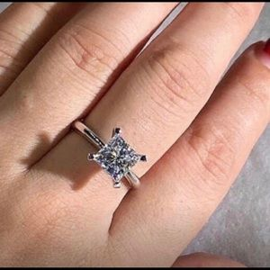 Jewelry - .925 Sterling Silver 3 Carat Moissanite Diamond